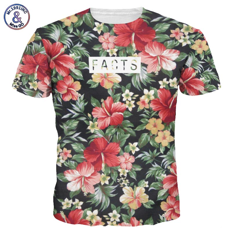 2017 Mr.1991INC Beautiful Flowers Print T-shirt For Men/Women Summer Tees Quick Dry 3d Tshirts Tops Fashion