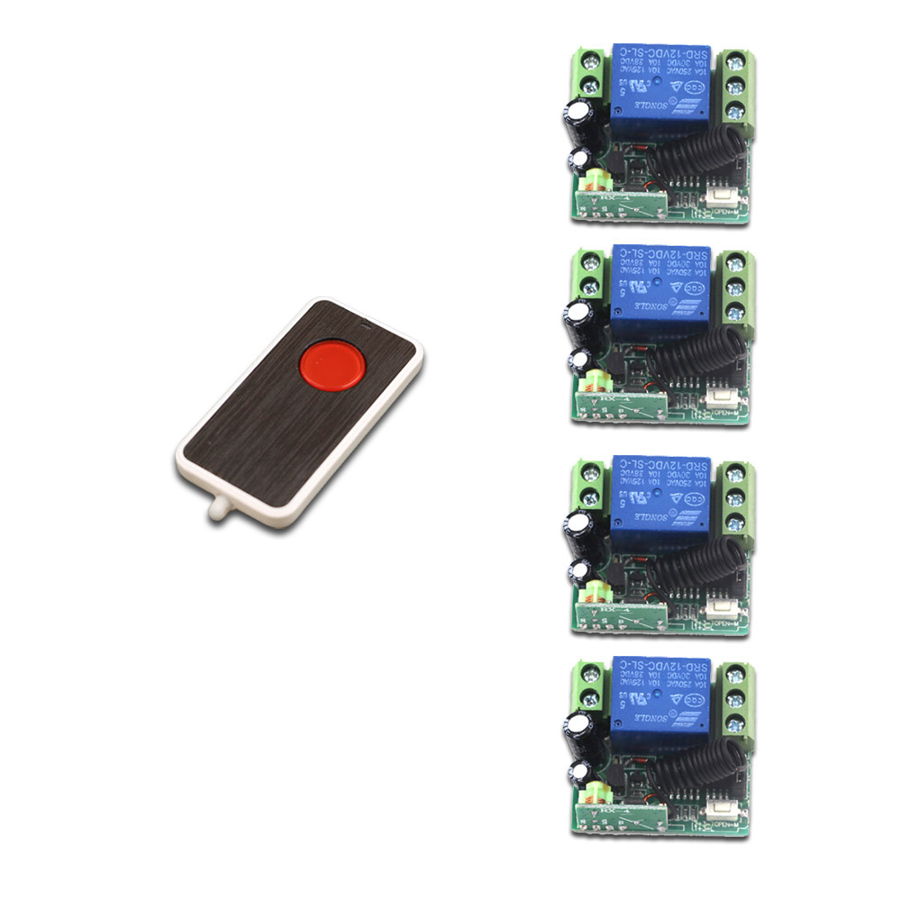 New Radio Remote Control Switch 12V DC Mini Receiver One Button Transmitter Learning Code 315/433 Momentary Toggle Latched remote switch 12v dc rf wireless 4 receiver 3 transmitter lighting digital switch learning code toggle momentary 315 433 92mhz