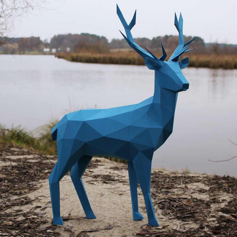 Олень бумага для моделирования DIY материал ручной работы креативный для вечеринок и маскарадов шоу реквизит tide ручной работы милые животные украсить подарок