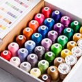 Simthread 40 Brother Colors Polyester Embroidery Thread For Brother/Babylock/Janome Machine 550Y Mini Cones With High Quality