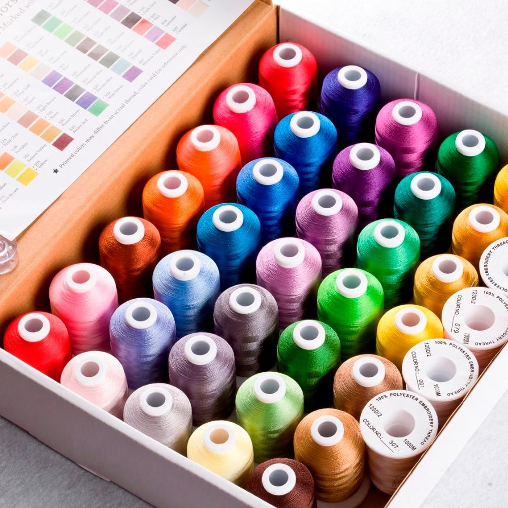Simthread 40 형제 색상 폴리 에스터 자수 스레드 형제/babylock/janome 기계 550y 미니 콘 고품질-에서실부터 홈 & 가든 의  그룹 1