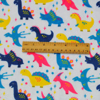 Free Shipping Carton Dinosaur Design Digital Print Minky Fabric Ultra Soft Used For Baby Beding Kids
