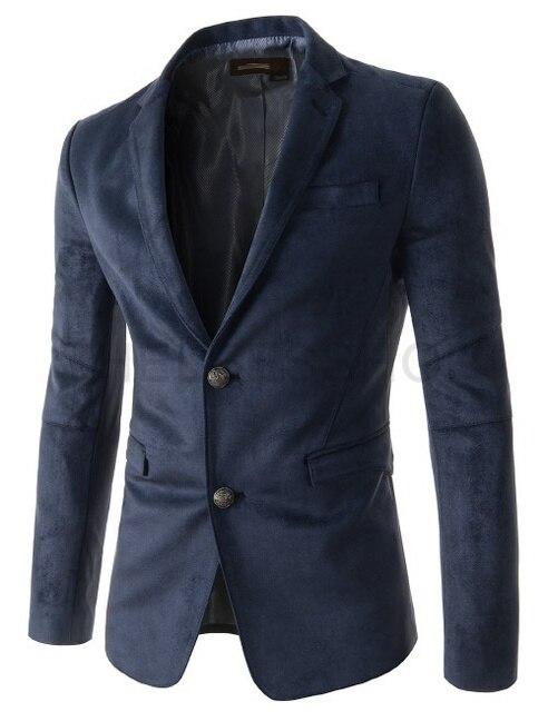 Горячая Продажа мужской случайные однорядные две пряжки leisure suit Slim Fit твердые замши пальто мужская одежда модного бренда костюм куртка