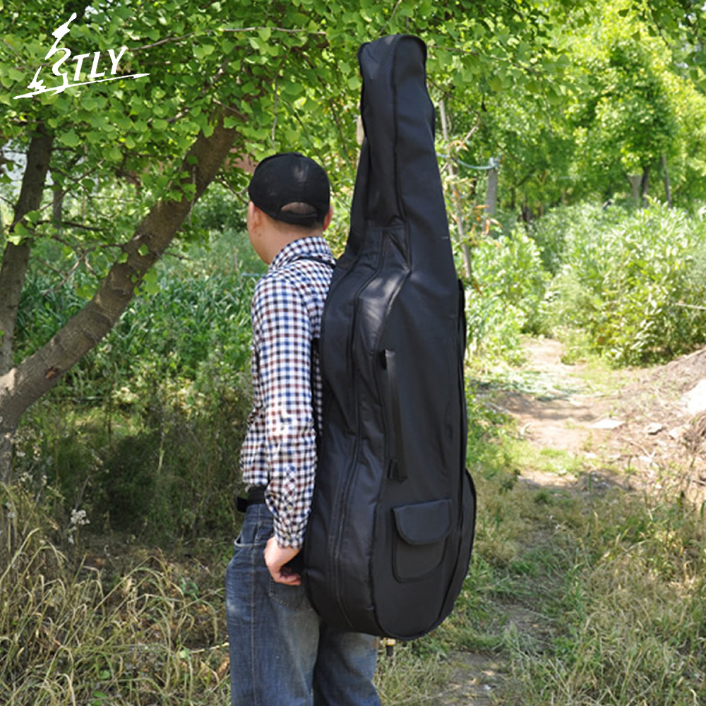Professional Cello Case Portable Thicken Waterproof Durable Cello Soft Cover Bag Full Size 1/8 1/4 2/4 3/4 4/4 wholesale luxury professional protable trumpet bag 600d soft pocket case durable cover good quality backpack shoulder withstrap