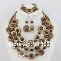 Fabuloso 3 Linhas Natural Ágata Beads Conjunto de Jóias De Pedra Conjunto de Jóias de Casamento de Moda de Nova Conjunto De Jóias de Noiva Frete Grátis GS015