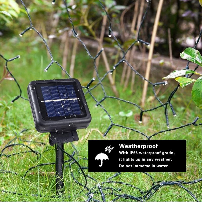 Led Solar Powered String Fairy Light Outdoor Party Xmas