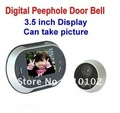 3.5 inch Display Digital Video Peephole Door Bell / Door Viewer,0.3MP Night Vision Camera,Can take picture