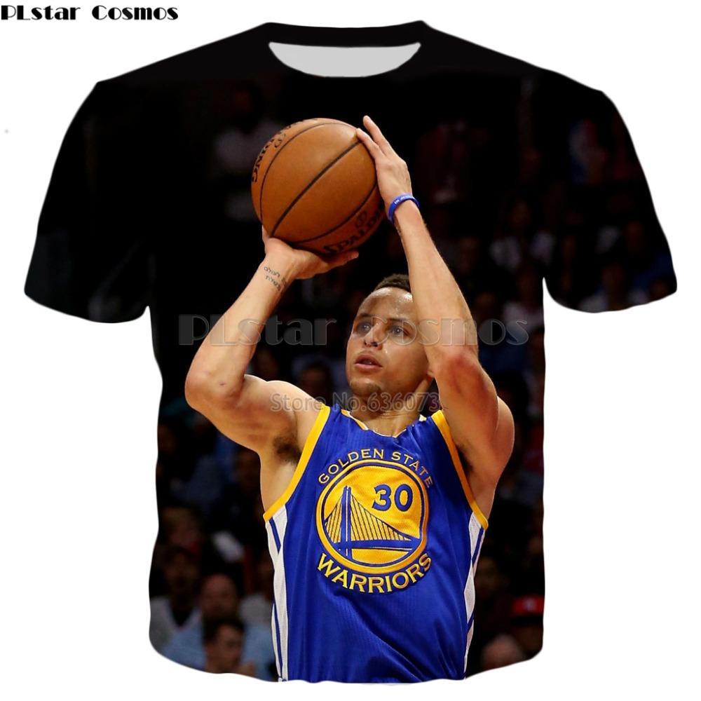 PLstar Cosmos 2018 summer Hot T-shirt new design Celebrities Stephen Curry t shirts 3D Print Mens Women Harajuku Tee shirts