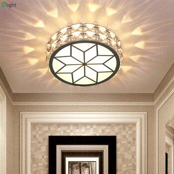 Moderne Einfache Acryl Wohnzimmer Führte Deckenleuchte Kronleuchter Licht  Glanz Kristall Dimmbare Korridor Led Kronleuchter Leuchte