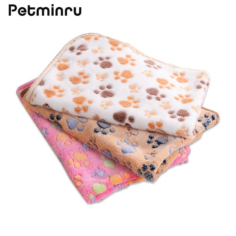 Petminru 75 50cm 104 76cm Cute Floral Paw Print Dog Puppy
