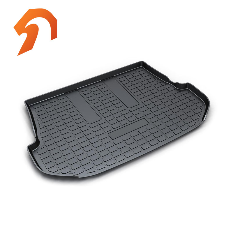 Rubber Rear Trunk Cover Cargo Liner Trunk Tray Floor Mats For TOYOTA FORTUNER 2016-2018 Carpet Liner Mats custom fit car trunk mats for nissan x trail fuga cefiro patrol y60 y61 p61 2008 2017 boot liner rear trunk cargo tray mats