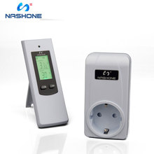 Thermostat temperature controller,Wireless Outlet Thermostat with Remote Control Built in Temp Sensor Prong Plug Heating Cooling