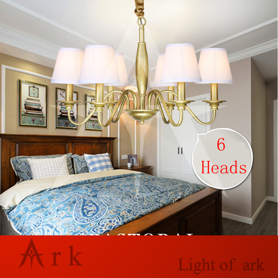 ARK LIGHT iron art minimalist rural Nordic restaurant bedroom led European-style chandelier LED 6 heads light living room цена и фото