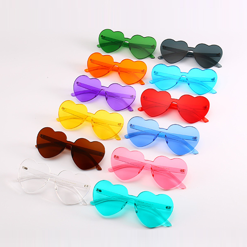 Heart Shape Cute Sunglasses para mujer Rimless Vintage Design Frame - Accesorios para la ropa - foto 2