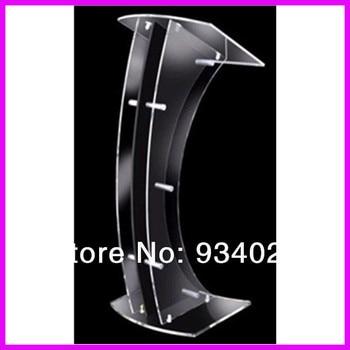 Free Shiping Curve Detachable Acrylic Lectern Dais Platform Cheap Church Podium
