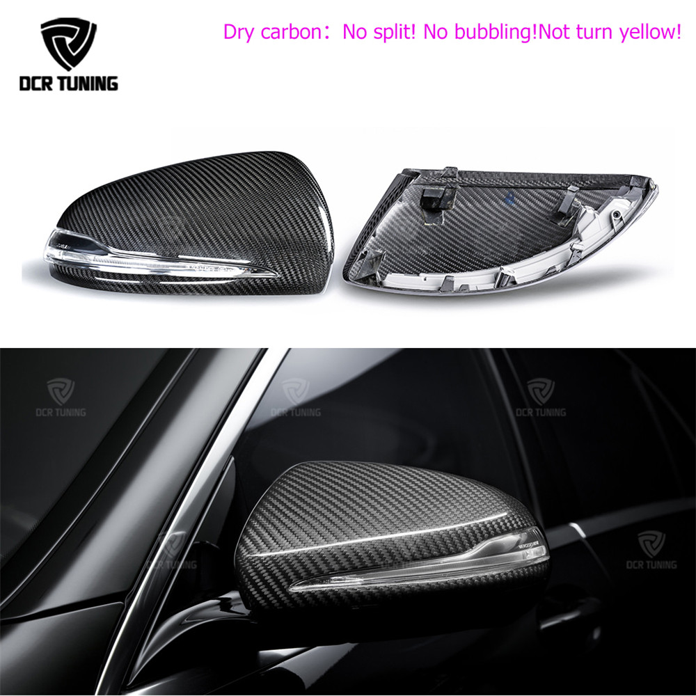 Dry Carbon Mirror Cover For Mercedes - Benz W205 W222 W213 W238 X205 Benz C S GLC E Class carbon caps 1:1 Replacement Style AMG 2015 2016 mercedes c class w205 carbon fiber replacement door side wing mirror covers for benz e w213 s class w222 car styling