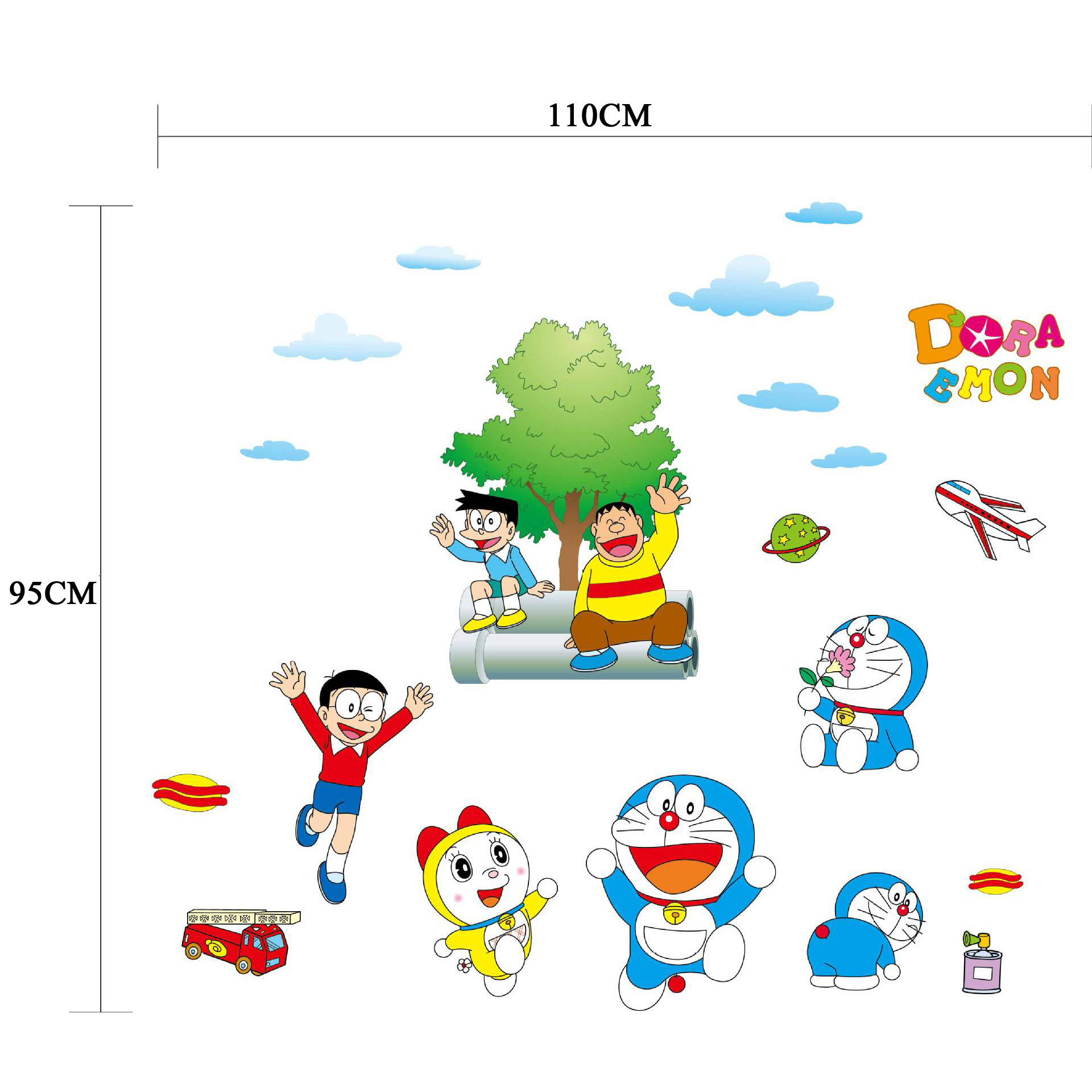 Cute Boy Nobita Nobi Cartoon Decoration Stickers Doraemon Originality Children s Baby Room Waterproof Mural Wallpaper Home Decor in Wall Stickers from Home