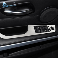 Airspeed Car Window Lifter Control Frame Window Switch Buttons Trim Armrest Stickers for BMW E90 3 Series 2005 2012 Car Styling