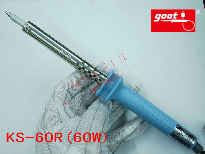 Japan GOOT Repair Tools KS-60R Rapid Thermal Durable Electric Soldering Iron Input 220V Power 60W japan goot repair tools ks 30r rapid thermal durable electric soldering iron input 220v power 30w