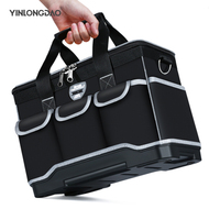 Multifunction Tool Bags Size 13 1618 20 Oxford Cloth Bag Top Wide Mouth Electrician Special Tool Kit Bags Waterproof Toolkit