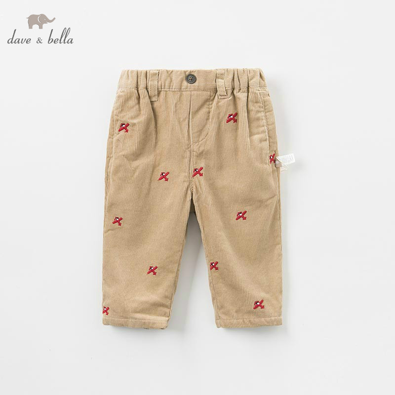 DB9281 dave bella autumn winter baby unisex pants children full length kids pants infant toddler trousers dba7845 dave bella autumn baby boys fashion jeans children full length kids denim pants infant toddler trousers