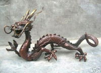 Excellent rare Chinese bronze Dragon Statue 100% free shipping