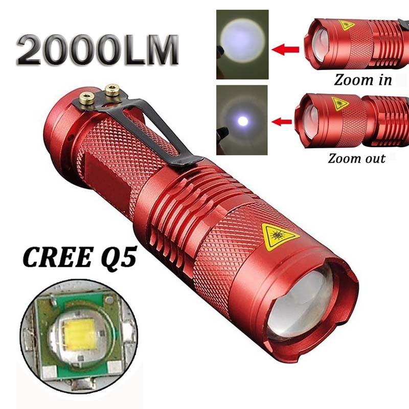 2000lm светодиодный фонарик CREE Q5 Водонепроницаемый Lanterna <font><b>LED</b></font> 3 режима Масштабируемые Факел zaklamp Taschenlampe torcia <font><b>Linterna</b></font>