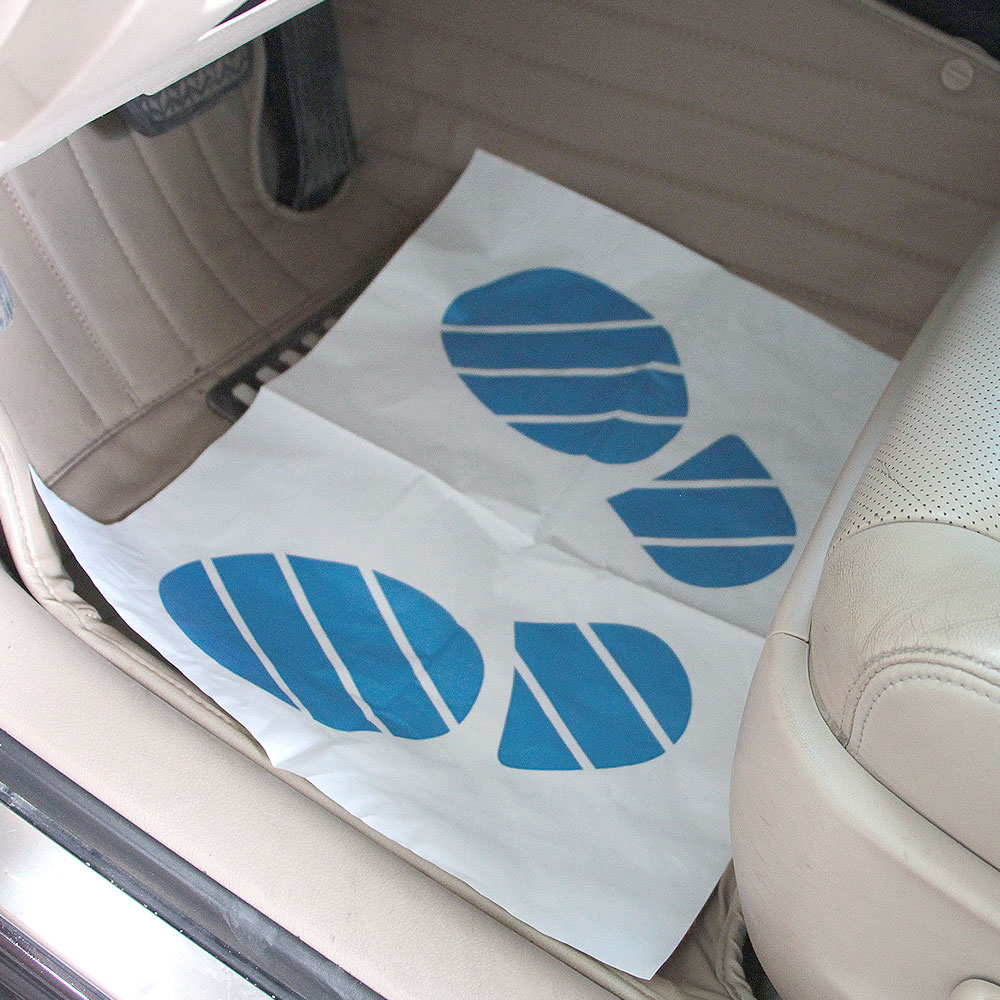 1pack Disposable Car Seat Cover Plastic Auto Steering Wheel Cover