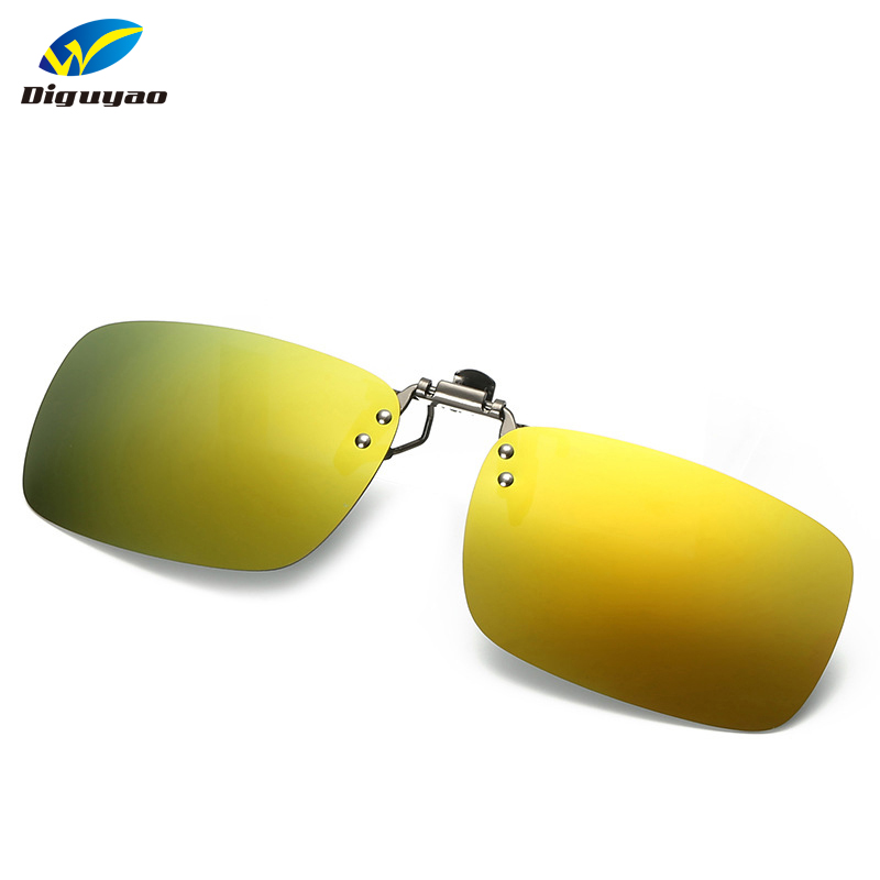 d54ecb9768c Multi Colors Mens Polarized Clip On Myopia Sunglasses Women Square Frame  Flip Up Sun Glasses Lens Male Driving Goggles-in Sunglasses from Apparel ...