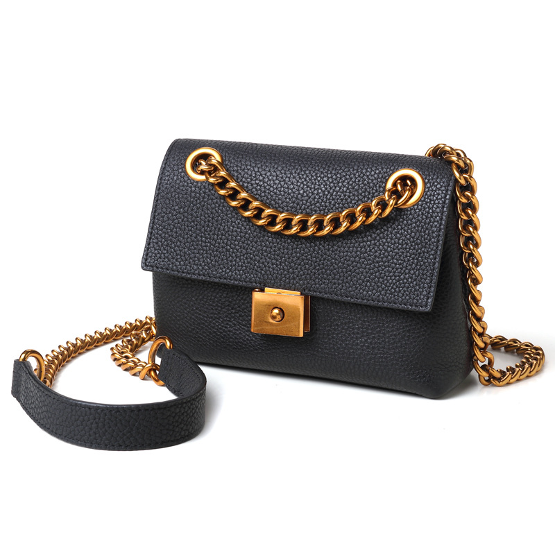 2018 Fashion Women Ladies Handbags Genuine Leather Cowhide Chain Soft Lichee Pattern Handbag Shoulder Bag Messenger Bags Party 2017 women bag cowhide genuine leather fashion folding handbag chain shoulder bag crossbody bag handbag party clutch long wallet