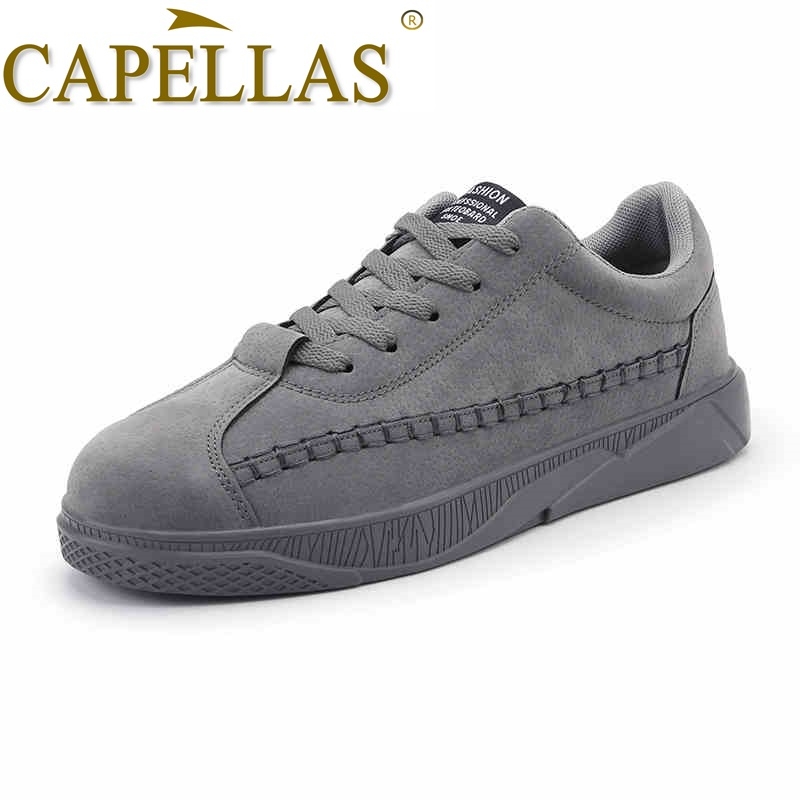CAPELLAS Sport Designer Men Leather Shoes New Mens Fashion Casual Shoes Men`s Leather Shoes Breathable Big Size Shoes 39-46 ...