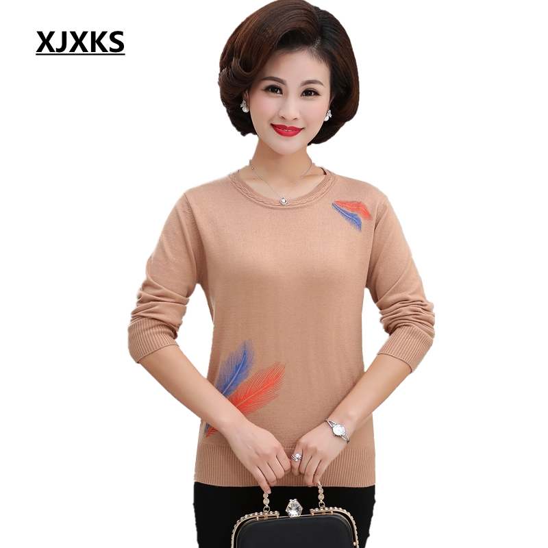 XJXKS Oversized Sweater Plus Size Autumn Winter Clothes Women Pullover Long Sleeve Jumper Wool Knitted Sweater