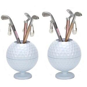 Image 1 - 실용 미니 슈페리어 골프 클럽 모델 볼펜 + 골프 공 홀더 세트 골프 액세서리 무료 배송