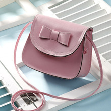 Luxury Fashion Wild Women Shoulder Bags Sweet Bow Design Shoulder Bag  PU Leather High Quality Party Get Together Crossbody Bags pink pu zip design shoulder bags