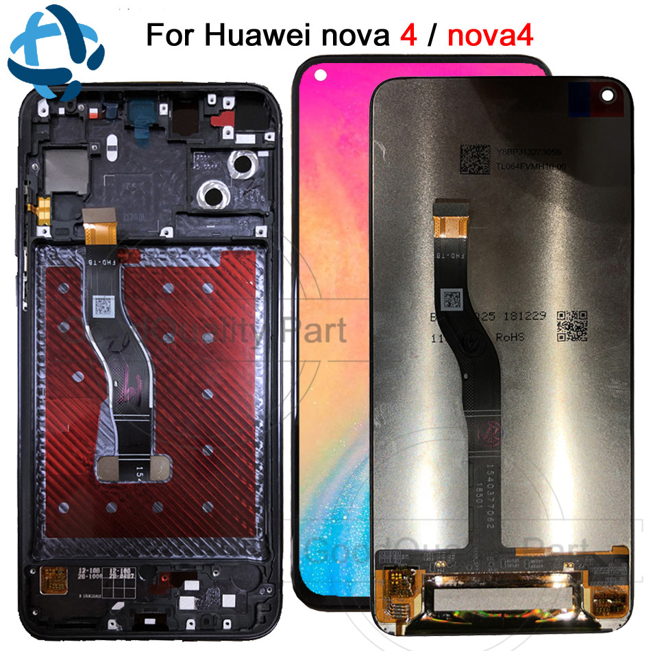 6 4 New For Huawei nova 4 LCD Display Touch Screen Digitizer Assembly VCE AL00 VCE