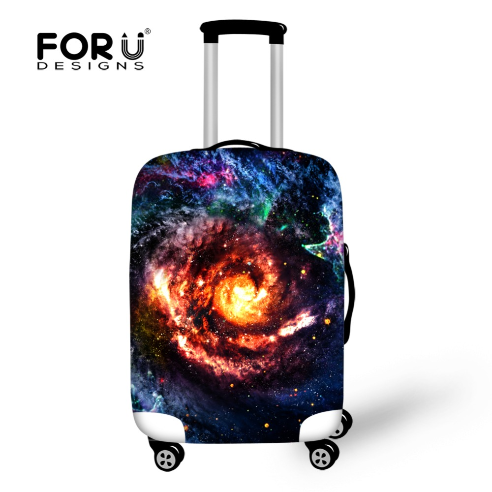 FORUDESIGNS 3D Galaxy Space Star Waterproof Cover Elastic Travel Accessories Suitcase Cover For 18/20/22/24/26/28/30inch Case