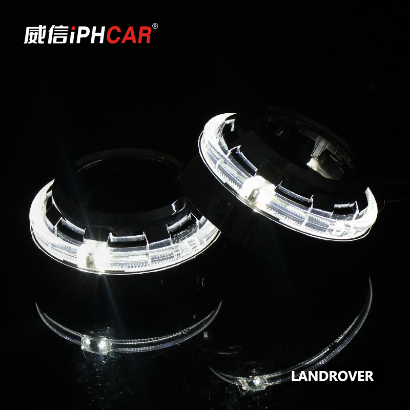 Free Shipping IPHCAR Hot Sell High Low Beam 12V 35W D2H Bulb Mini Projector Headlight with Angel Eyes for H4 H7 hot sell optics in surat india focus lens f77 beam bendor 50x10 beam expander 10x front mirror back
