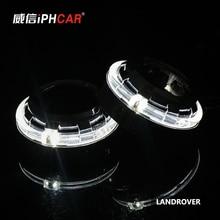 Бесплатная Доставка IPHCAR Горячее Надувательство Высокая Ближнего света 12 В 35 Вт D2H лампа Мини-Проектор Фары с LED Angel Eyes для H4 H7