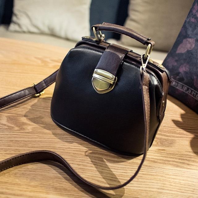 New Brand vintage handbag retro PU leather small flap bags for women messenger bag ladies clutch shoulder bag bolsa termica sac