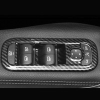 For Mercedes Benz A Class 2019 ABS Carbon fibre Door Window glass Lift Control Switch Panel Trim Cover car styling 4pcs