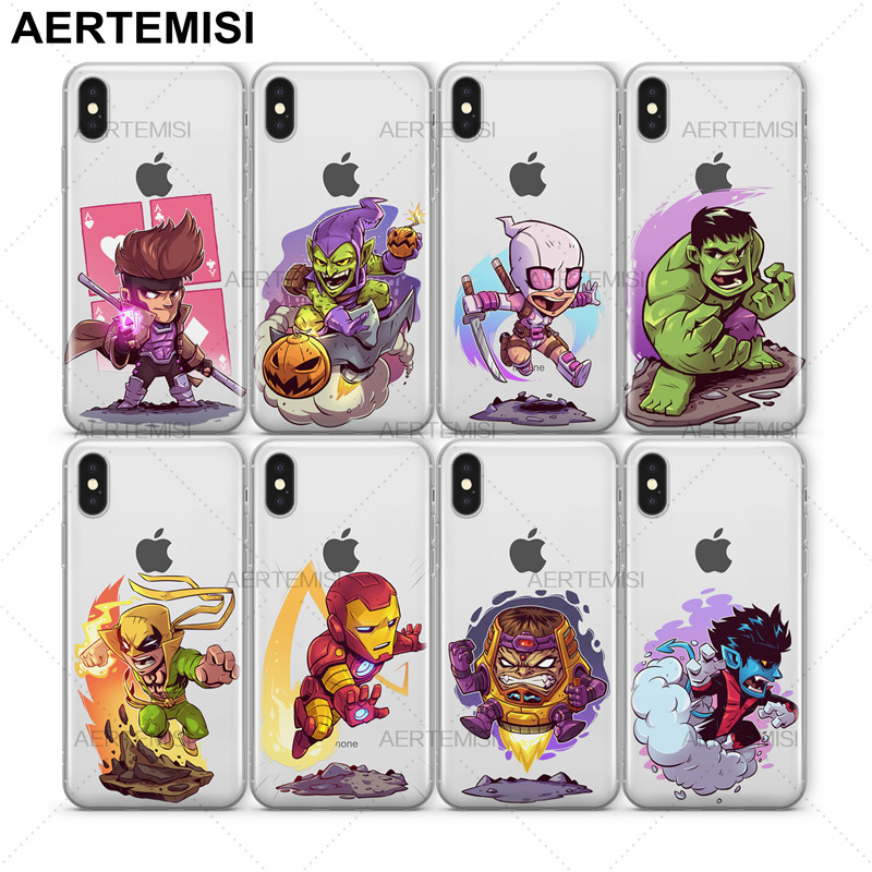 Aertemisi Daredevil Deadpool Doctor Doom Gambit Goblin Gwenpool Hulk Clear Tpu Case Cover For Iphone 5 5s Se 6 6s 7 8 Plus X As Effectively As A Fairy Does Cellphones & Telecommunications Fitted Cases