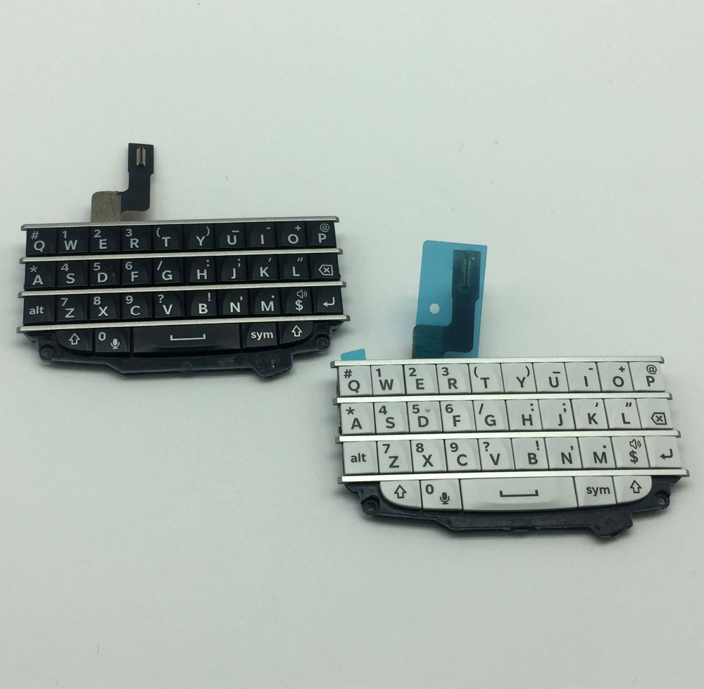 Original For Blackberry Q10 Qwerty Keypad Keyboard With Flex Cable White Black In Mobile Phone Keypads From Cellphones Telecommunications On