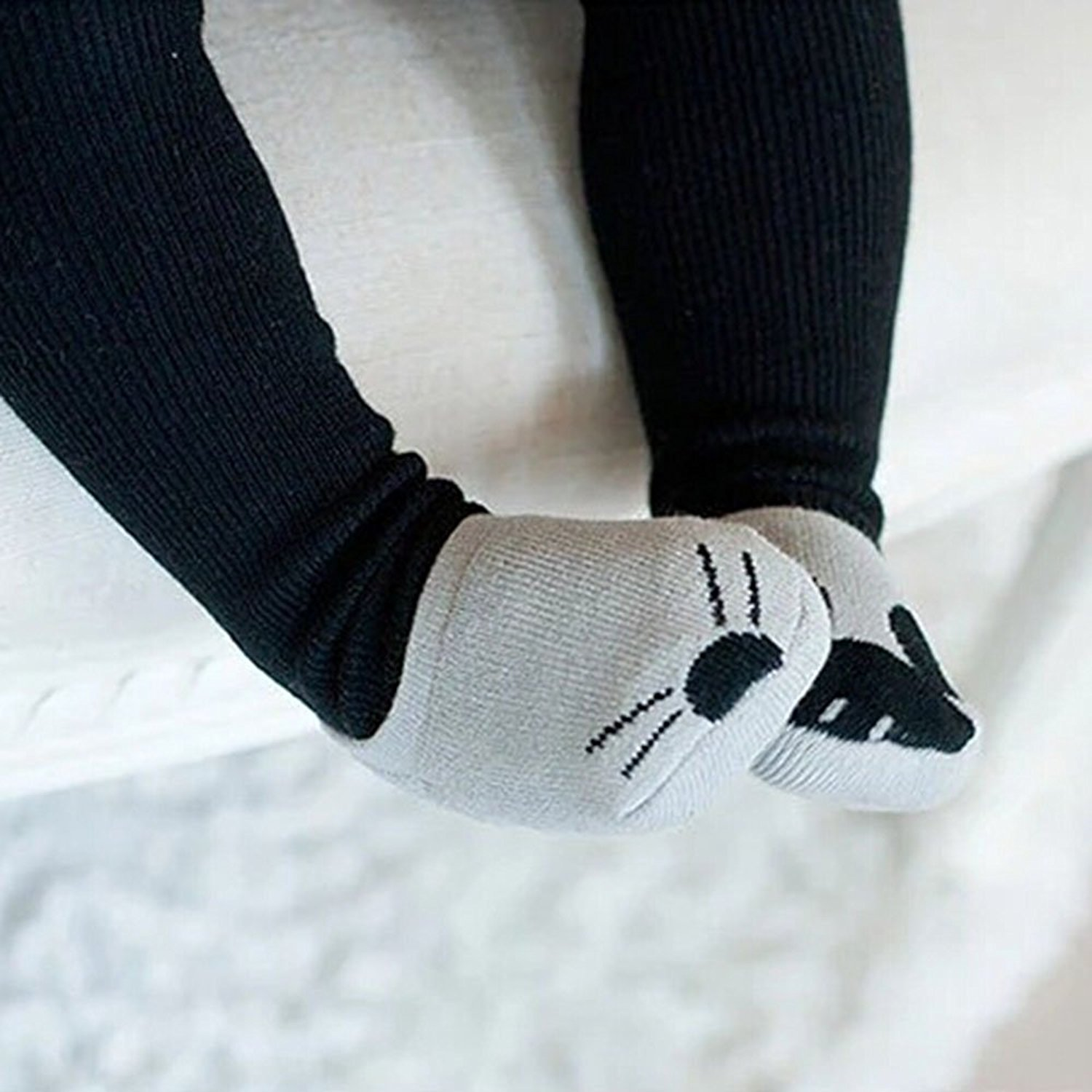 ABWE Best Sale KACAKID Baby Girls Boys Cute Cartoon Socks Newborn Infant Cotton Socks Grey