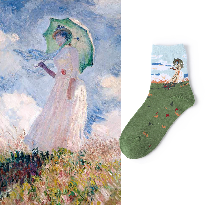 VVQI women   socks   Cytherea harajuku funny   socks   streetwear goth novelty   socks   famous painting Art   socks   korean style women kawaii