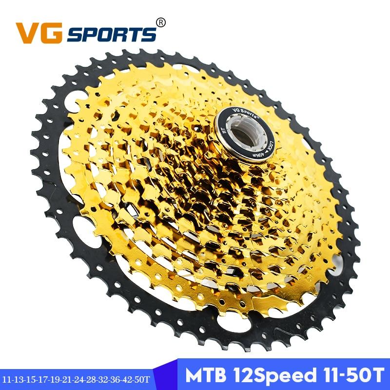 Pro 12 Speed 11-50T MTB mountain Bike Freewheel bicycle flywheel Cassette~ GOLD