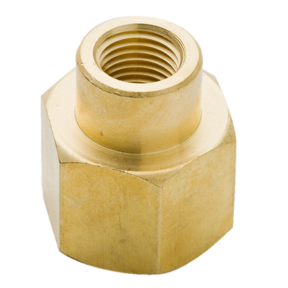 Boeray 2pcs 1//2 NPT Male to 1//4 Female Brass Pipe Hose Tube Fitting Adapter Convert Reducing Hex Head Bushing