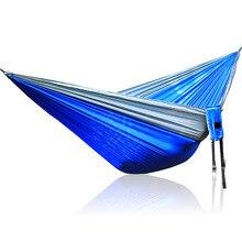 Серый синий серый нейлоновый гамак 300*200 см наружная загрузка мебели 350 кг