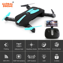 Global Drone JY018 Folding Arms Pocket Remote Controller Dron Altitude Hold Professional Wifi FPV Drone With Camera HD