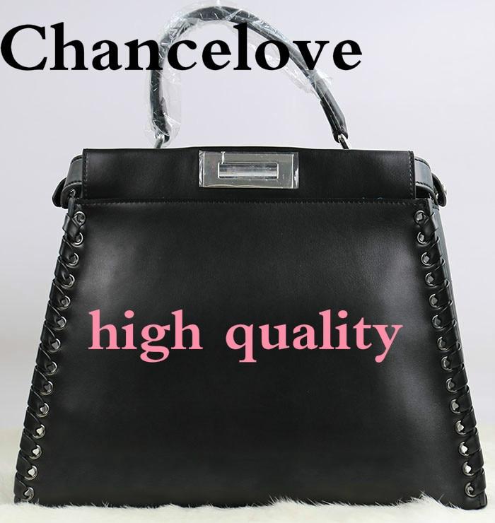 Luxury Brand 2018 Winter Women Peekaboo Bag Fashion Cowhide Woven Shoulder Bags Famous Designer Handbag Totes bolsa feminina цена и фото