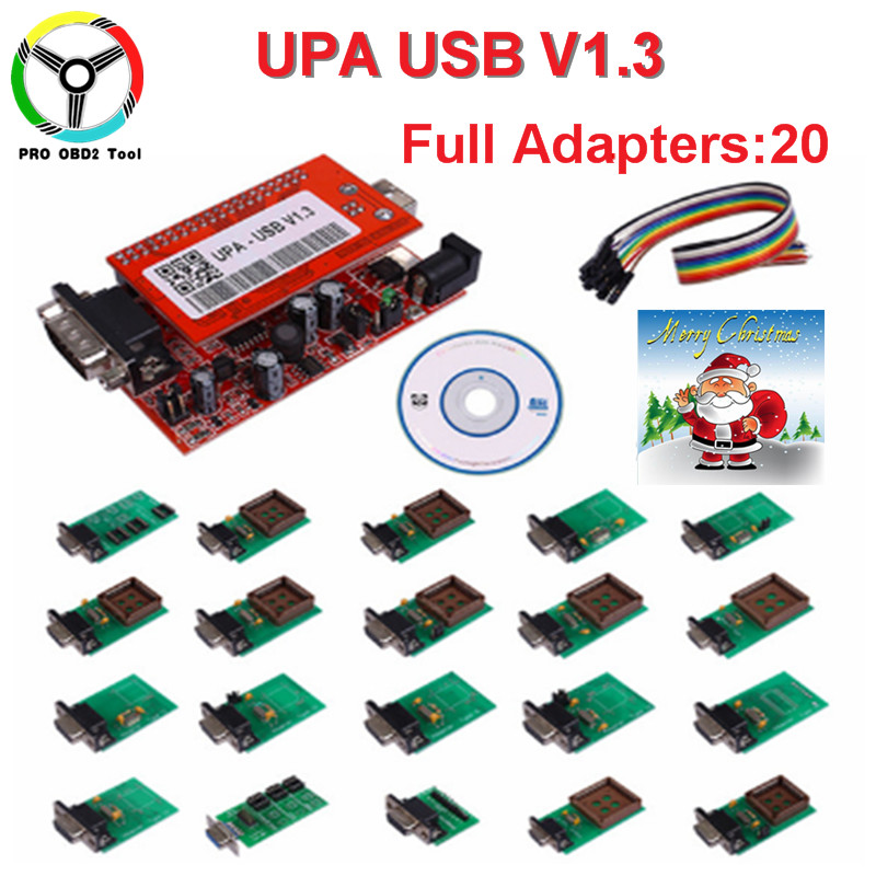 где купить Full Set UPA USB Programmer With 20 Adapters UPA-USB Software V1.3 ECU Chip Tuning Tool With Full Set 20 Chips Free Shipping по лучшей цене